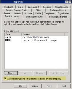 E+mail addresses