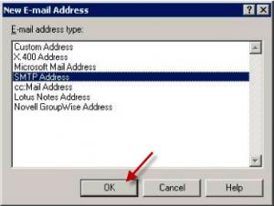 New SMTP address