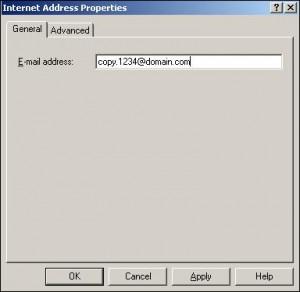 Internet SMTP address